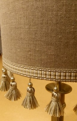 Card-lined lampshade made to order