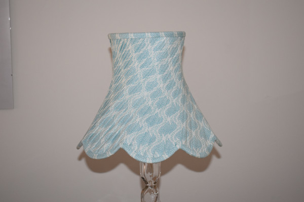 Bespoke, hand-sewn, swathed lampshade
