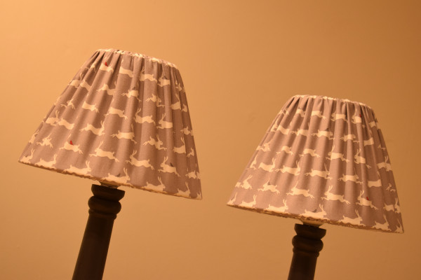 Bespoke, removable lampshades