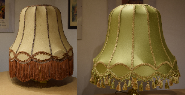 Re-cover traditional lampshades. Our studio in Ashford, Kent is a short journey from London
